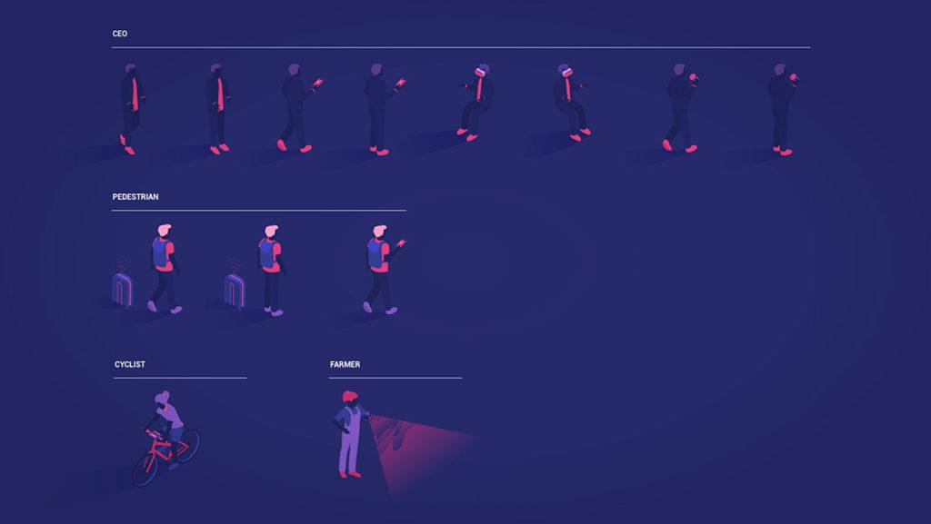 ilustración transformación digital animation kit characters