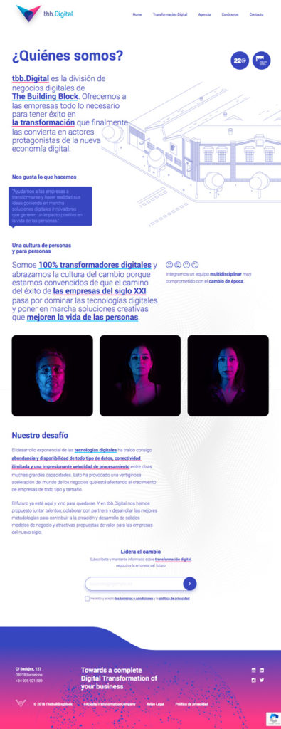 web site transformación digital
