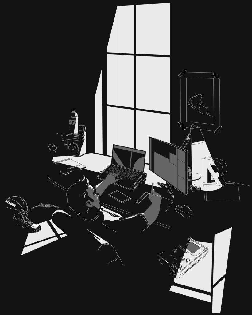 I'm Art Director, Graphic Designer & Illustrator robenore workspace